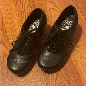 Dansko heel saddle style shoes